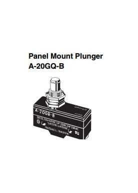Limit Switch Panel mount plunger