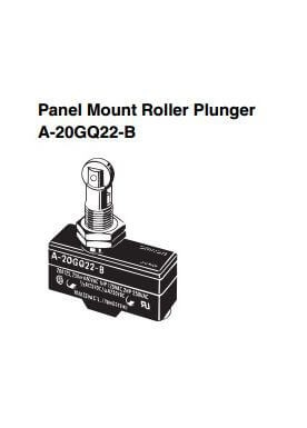 Limit Switch Panel Mount Roller Plunger