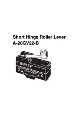 Limit Switch Short hinge roller lever